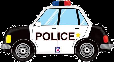 "Police Car 34"" Foil Balloon"