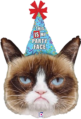 "Grumpy Cat Party Face 36"" Foil Balloon"