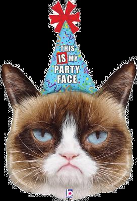 "Grumpy Cat Party Face 36"" Foil Balloon"