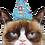 "Thumbnail: Grumpy Cat Party Face 36"" Foil Balloon"