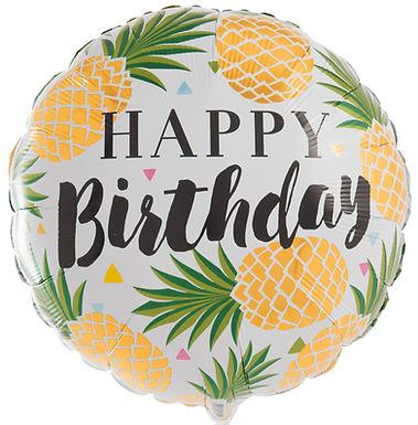 Happy Birthday Pineapple balloon