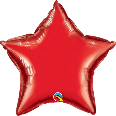 Red 18 inch Star Foil Balloon
