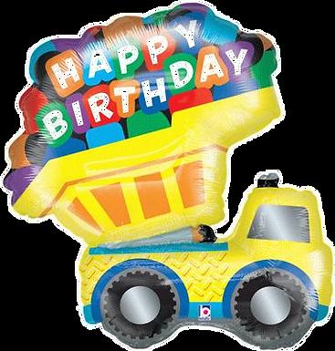 """Dump Truck 33"""" Foil Balloon"""