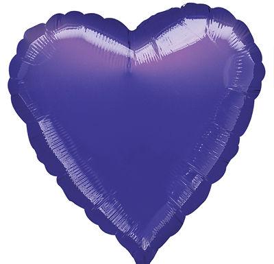 Purple 18 inch Heart Foil Balloon