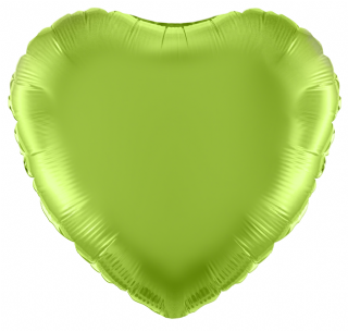 Lime Green 18 inch Heart Foil Balloon