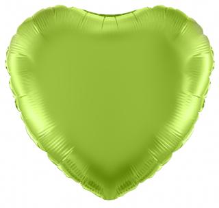 Lime Green 18 inch Heart Foil Balloon