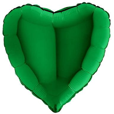 Dark Green 18 inch Heart Foil Balloon