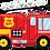 """Thumbnail: Fire Truck 40"""" Foil Balloon"""