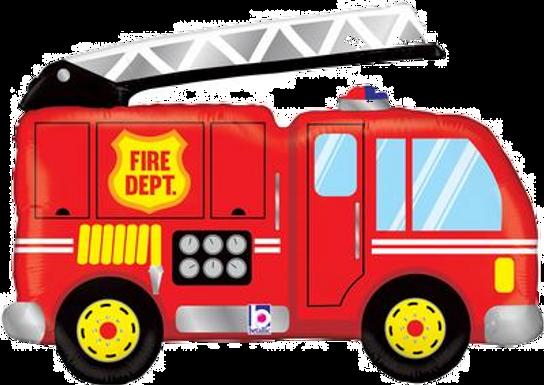"""Fire Truck 40"""" Foil Balloon"""
