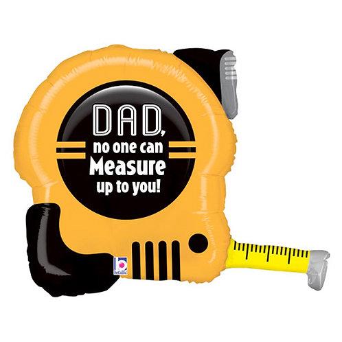 "Dad Tape Measure 30"" Foil Balloon"