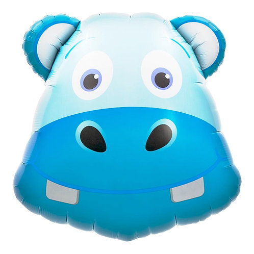 Hippo Head Supershape Balloon