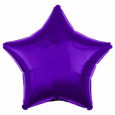 Purple 18 inch Star Foil Balloon