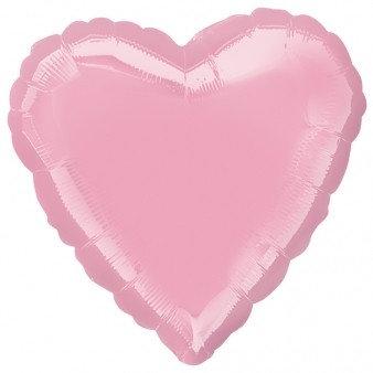 Light Pink 18 inch Heart Foil Balloon