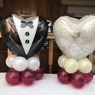 Custom Wedding table centre piece balloons