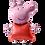 Thumbnail: Giant Peppa Pig Airwalker Balloon (1.2m) - Helium Filled