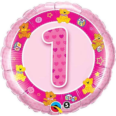 Pink 1-5 Foil Balloon