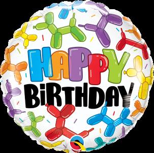 """Birthday Balloon Dogs 18""""Foil Balloon"""