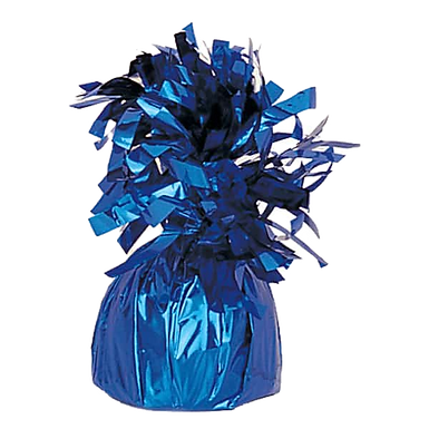 Blue Tinsel Bomb Balloon Weight