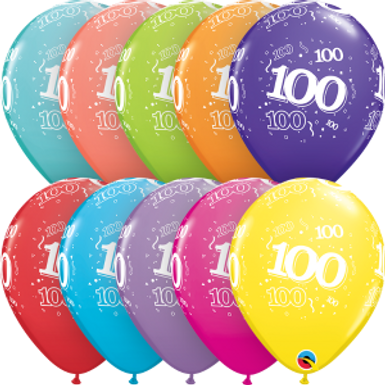 """100-A-Round 11"""" Latex Retail Pack"""