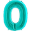"""Thumbnail: Tiffany Blue 34"""" Foil Number 0 Balloon Helium Filled"""