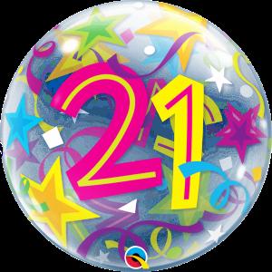 21 Brilliant Stars Bubble Balloon