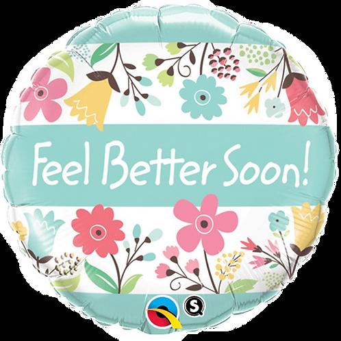 "Feel Better Soon Floral 18"" Foil"