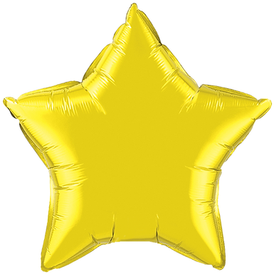 Yellow 18 inch Star Foil Balloon