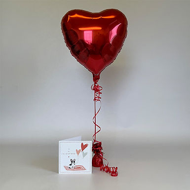 """Be My Valentine"" Card & Balloon Combo"