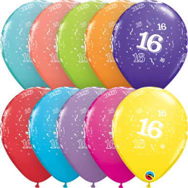 """16-A-Round 11"""" Latex Retail Pack"""