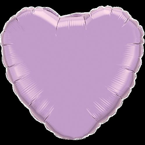 Lilac 18 inch Heart Foil Balloon