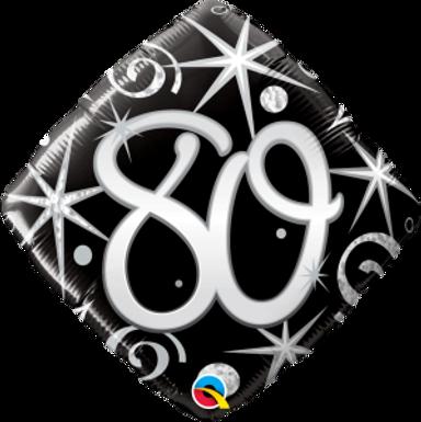 "80 Elegant Sparkles & Swirls 18"" Foil Balloon"