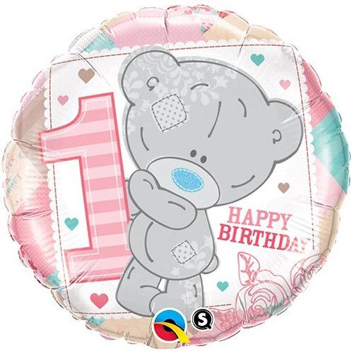 """Me To You Tiny Tatty Teddy 1st Birthday Girl 18"""" Foil Balloon"""