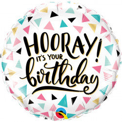 """Hooray It's Your Birthday! 18"""" Foil Balloon Helium Filled"""