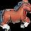 """Thumbnail: Dark Brown Horse 43"""" Foil Balloon"""