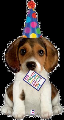 "Birthday Puppy 41"" Foil Balloon"