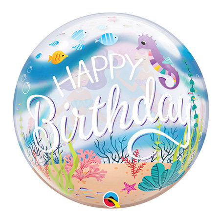 Happy Birthday Underwater Bubble Balloon