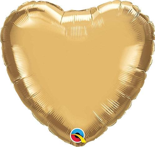 Gold 18 inch Heart Foil Balloon