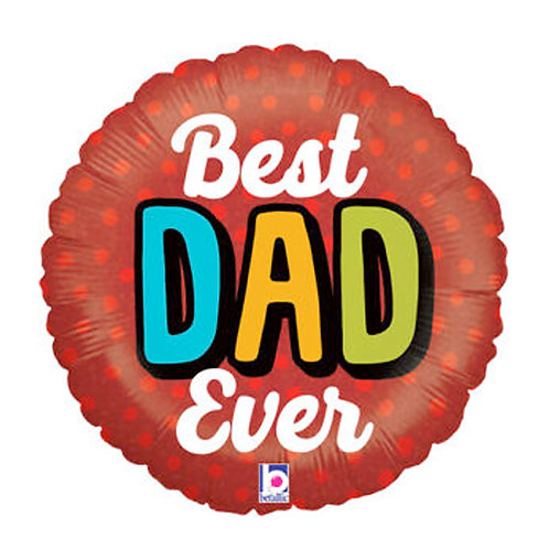 Best Dad Ever 18inch Foil Balloon