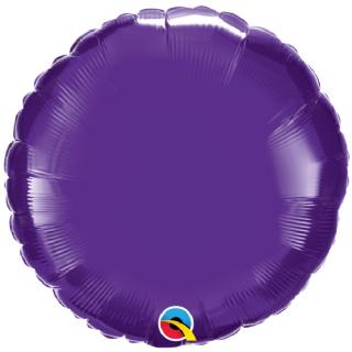 Purple 18 inch Circle Foil Balloon