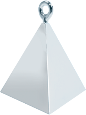 Silver Pyramid Balloon Weight