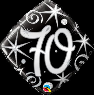 "70 Elegant Sparkles & Swirls 18"" Foil Balloon"