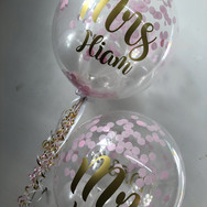 Custom Mr and Mrs Hiam Balloons