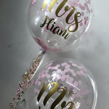Custom Mr and Mrs Hiam Balloons