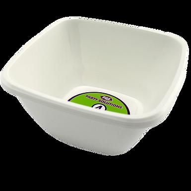 15cm White Plastic Serving Bowl