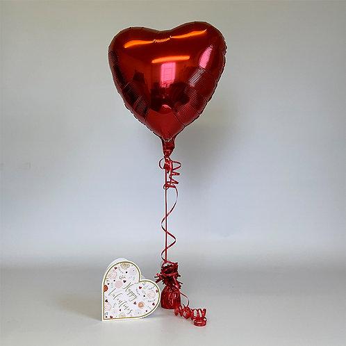 """Happy Valentines"" Card & Balloon Combo"