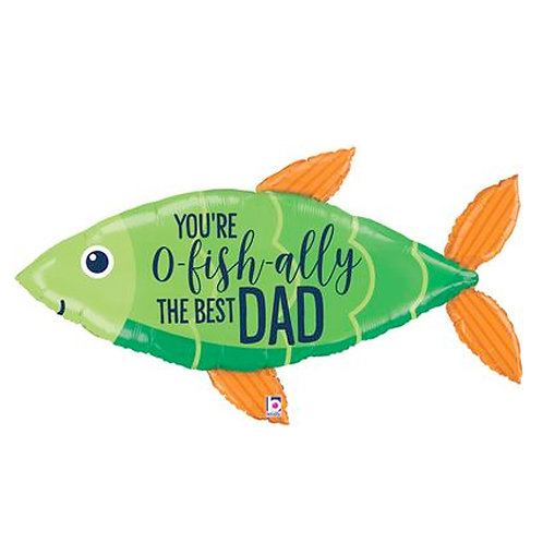 O-Fish-ally The Best Dad Balloon