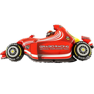 Formula 1 Car Red Shape Foil Balloon