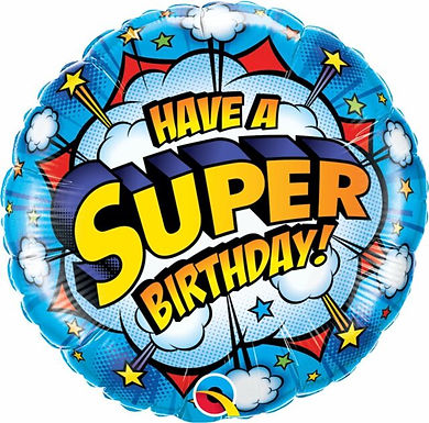 "Have a Super Birthday! 18"" Foil Balloon"