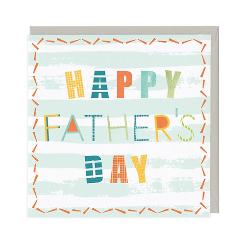 Fun Typography Father's Day Card