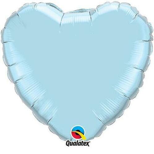 Light Blue 18 inch Foil Heart Balloon